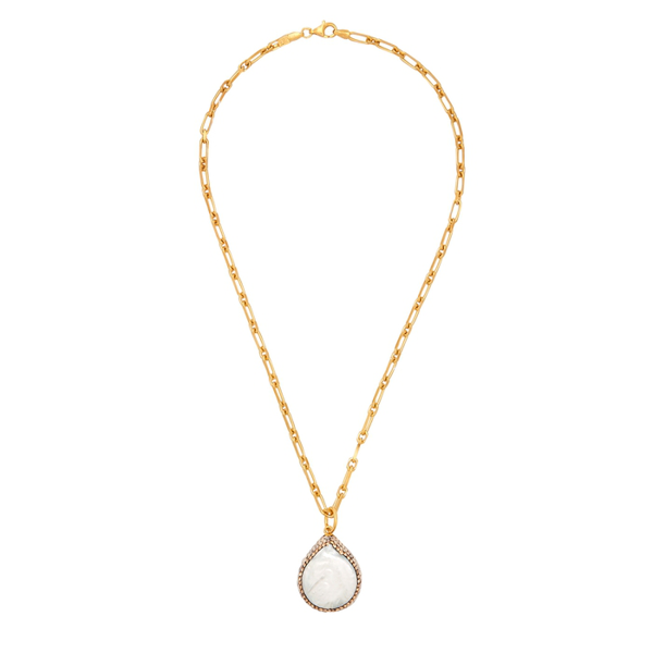 Soru Jewellery Baroque Pearl 18kt Gold-plated Necklace