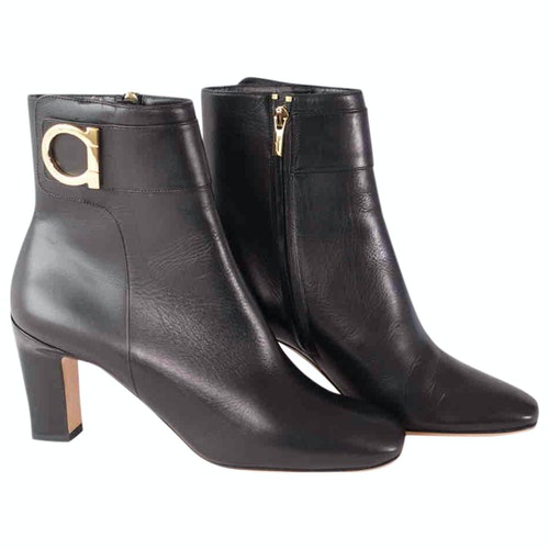 Salvatore Ferragamo Black Leather Boots