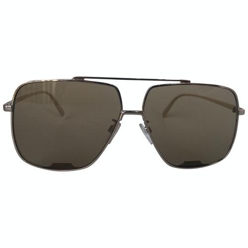 Bally Brown Metal Sunglasses