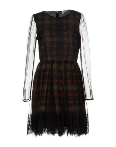Red Valentino Short Dress In Copper
