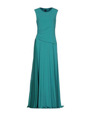Pinko Long Dress In Light Green