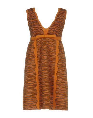 M Missoni Short Dress In Orange