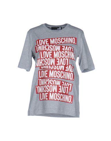 Love Moschino T-shirts In Light Grey