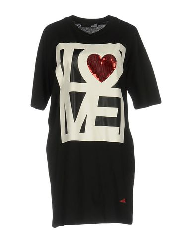 Love Moschino Short Dresses In Black