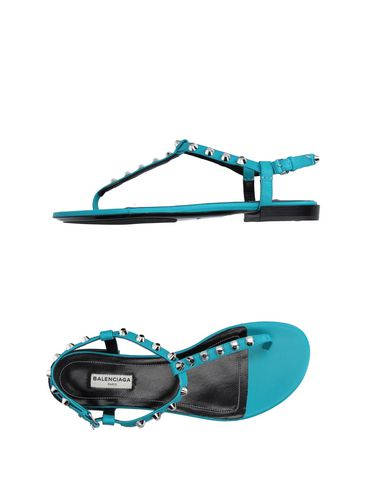 Balenciaga Flip Flops In Turquoise
