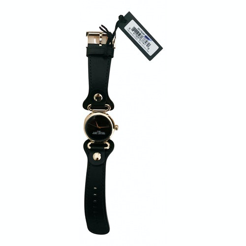 Pre-owned Marc Jacobs Black Gold Plated Watch