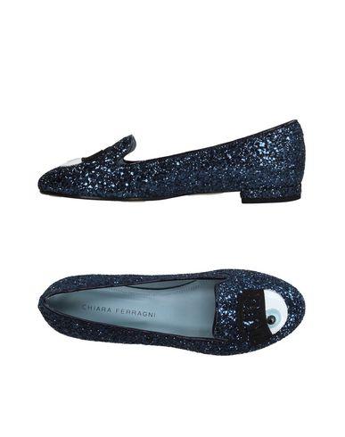 Chiara Ferragni Glitter Slip-on Flats In Navy