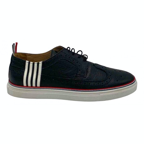 Pre-owned Thom Browne Black Leather Trainers