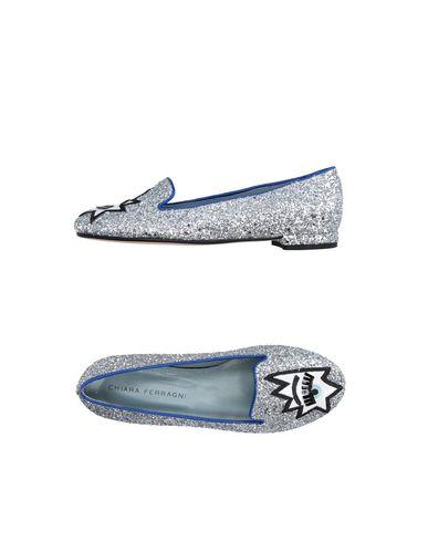Chiara Ferragni Loafers In Silver