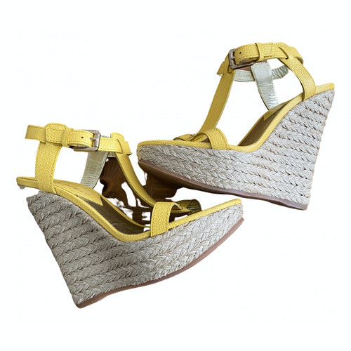Dsquared2 Yellow Leather Espadrilles