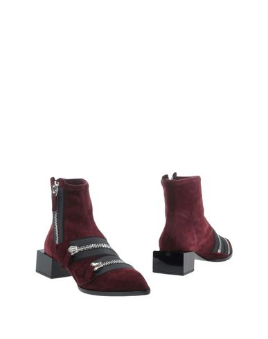 Pierre Hardy Ankle Boots In Maroon