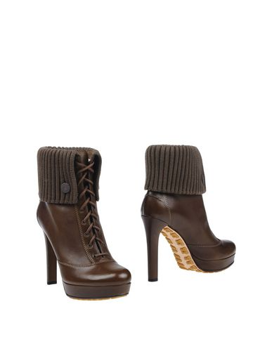 Gucci Ankle Boots In Khaki