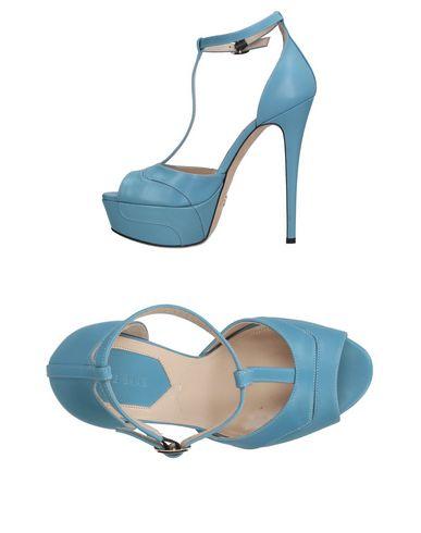 Elie Saab Sandals In Sky Blue