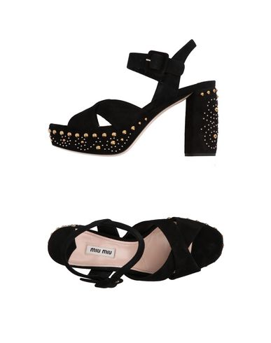 Miu Miu Sandals In Black