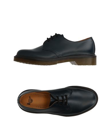 Dr. Martens Laced Shoes In Dark Blue