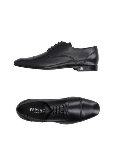 Versace Laced Shoes In Black