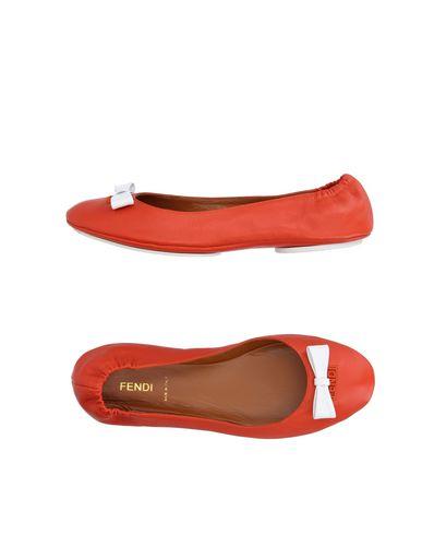 Fendi Ballet Flats In Red