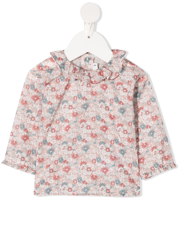 Bonpoint Babies' Liberty Print Blouse In Pink