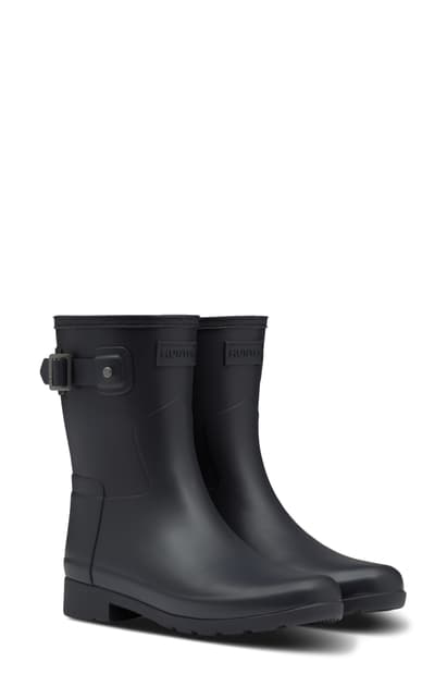 Hunter Original Refined Short Waterproof Rain Boot In Delta