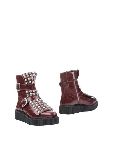 Marc By Marc Jacobs Ankle Boots In Maroon