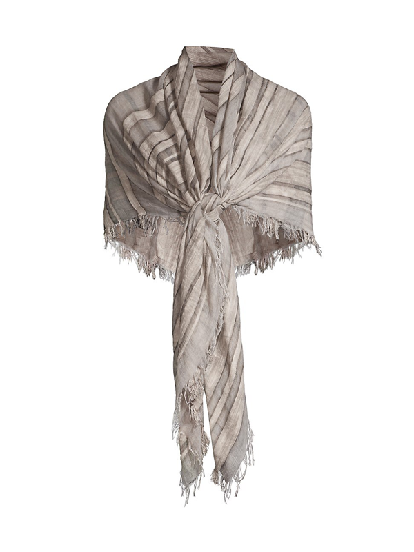 Eileen Fisher Women's Organic Cotton-blend Scarf In Moon