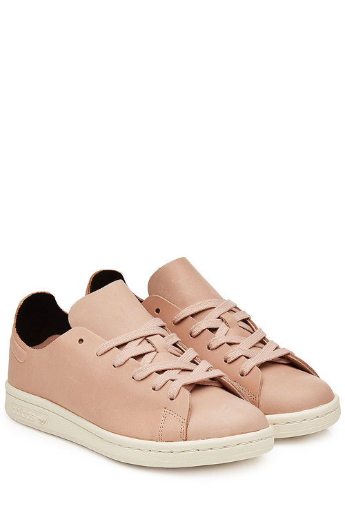 Adidas Originals Stan Smith Leather Sneakers In Pink