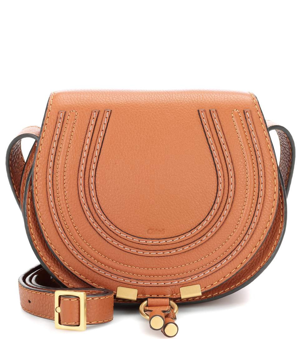 ChloÉ Marcie Small Leather Cross-body Bag In Tae