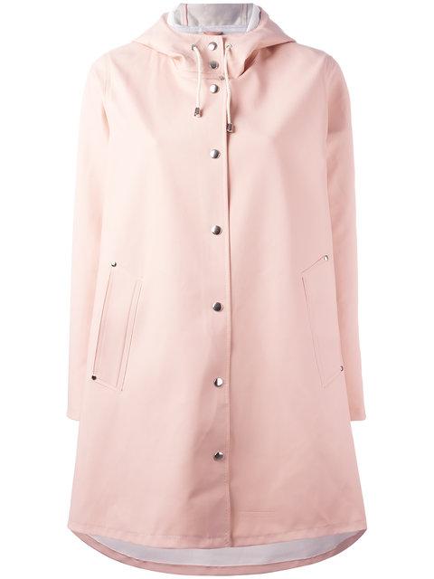 Stutterheim Mosebacke Waterproof A-line Hooded Raincoat In Open Pink