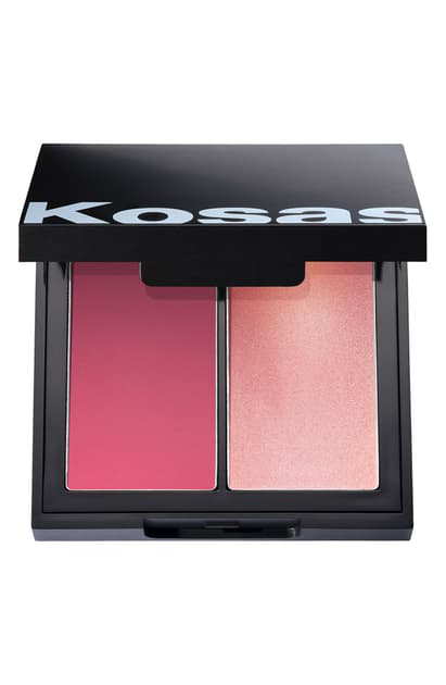 Kosas Color & Light Cream Blush & Highlighter Palette In 8th Muse High Intensity