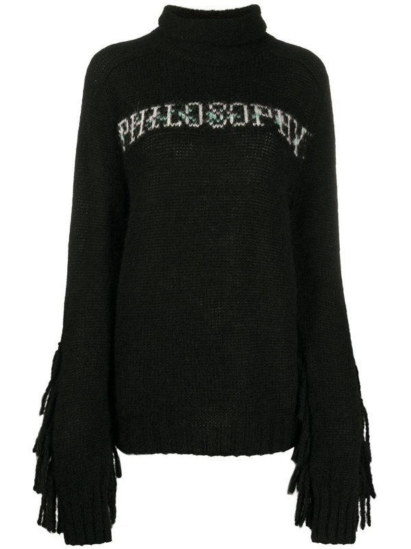Philosophy Women's Black Wool Sweater