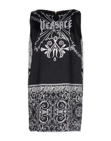 Versace Short Dress In Black