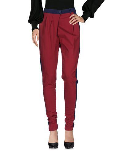 Pinko Casual Pants In Brick Red