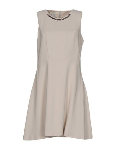Pinko Short Dress In Light Grey