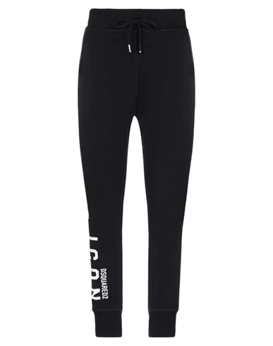 Dsquared2 Trousers With Logo In Nero