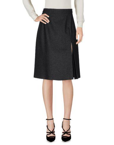 Michael Kors Knee Length Skirt In Steel Grey