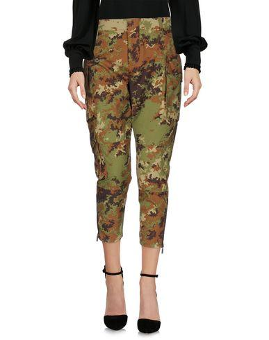 Dsquared2 Cropped Pants & Culottes In Military Green