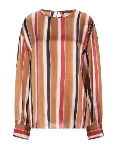 Max Mara Striped Blouse In Brown