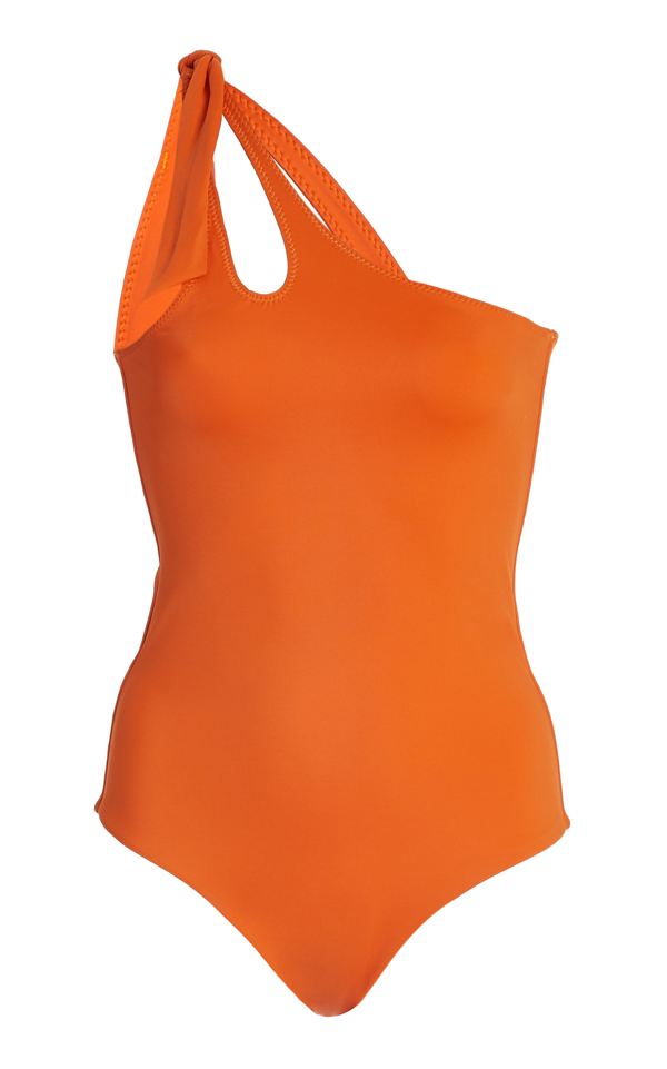 Palm Coty Cutout One-piece Swimsuit In Orange