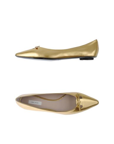 Marc Jacobs Ballet Flats In Gold