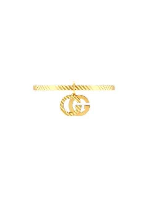 Gucci 18kt Yellow Gold Gg Running Ring