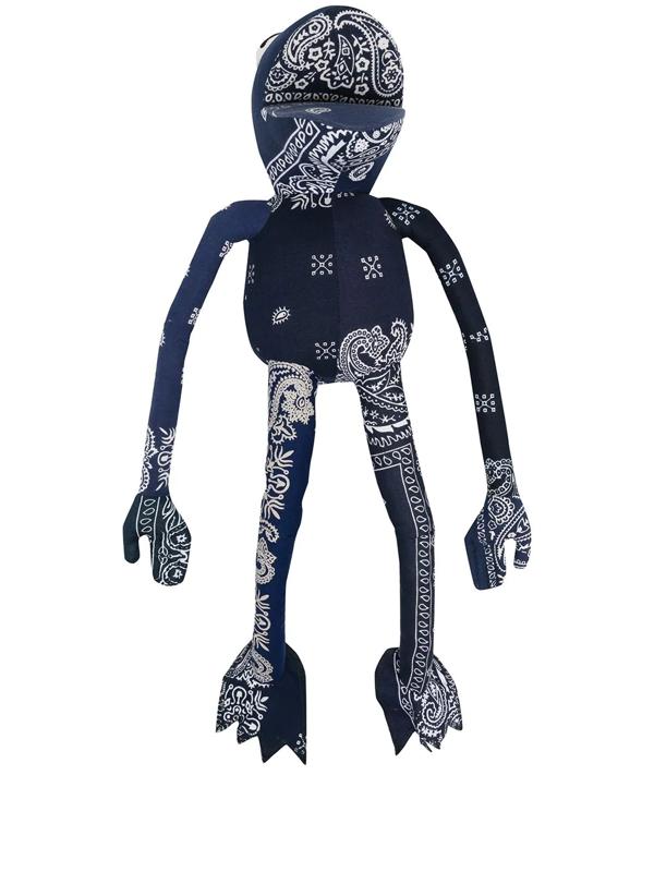 Readymade Bandana-print Frogman Soft Toy (55cm) In Blue