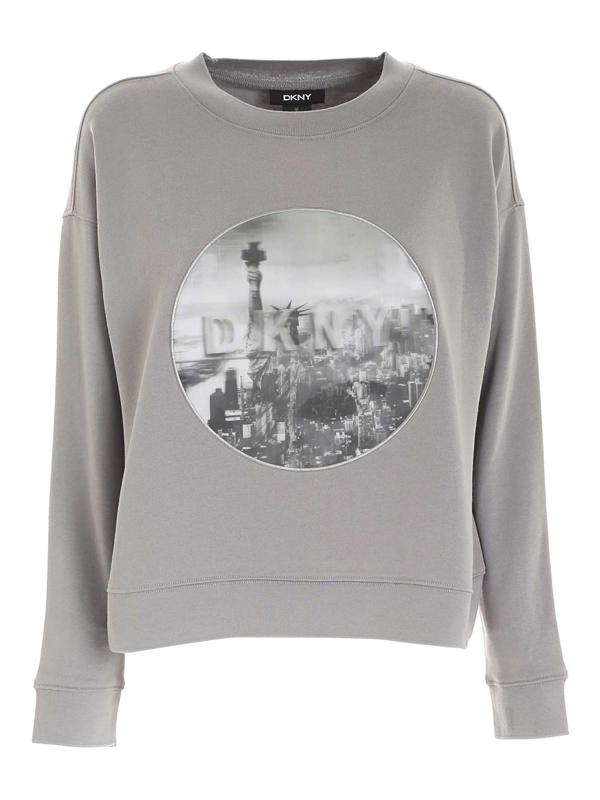 Dkny Crewneck Sweatshirt In Grey