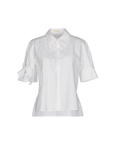 Delpozo Solid Color Shirts & Blouses In White
