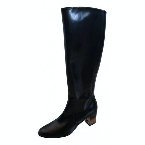 Pre-owned Salvatore Ferragamo Black Patent Leather Boots