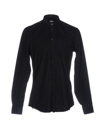 Dondup Solid Color Shirt In Dark Blue