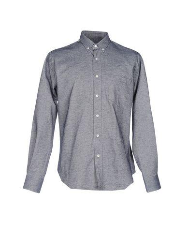 Ami Alexandre Mattiussi Shirts In Slate Blue
