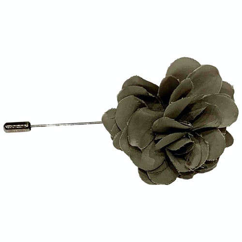 Pre-owned Lanvin Grey Cloth Pins & Brooches