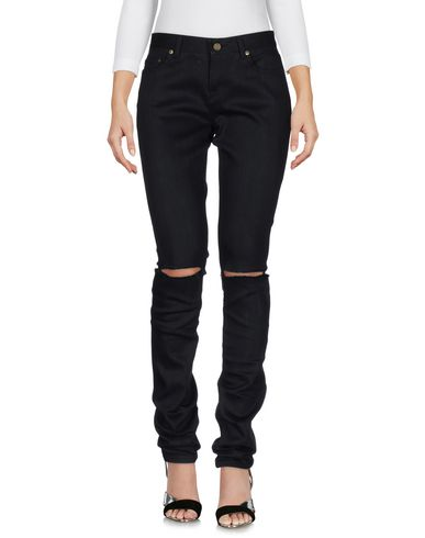 Saint Laurent Denim Pants In Black
