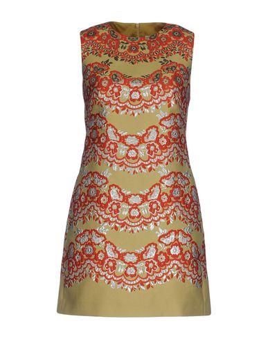 Red Valentino Short Dress In Ocher