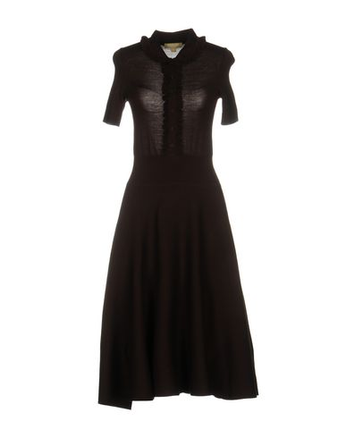 Michael Kors Knee-length Dresses In Dark Brown